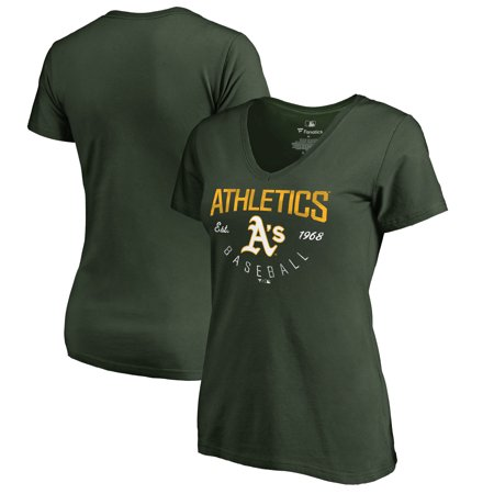 Oakland Athletics Light (Oakland Athletics Fanatics Branded Women's Live For It T-Shirt - Green )