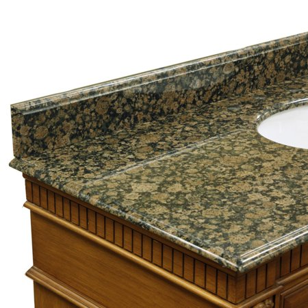 (Bellaterra Home 35W in. Baltic Brown Granite Backsplash)