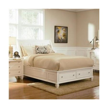 Coaster 201309kw sandy beach california king size sleigh bed with footboard storage drawers in - Cal king bed with drawers ...