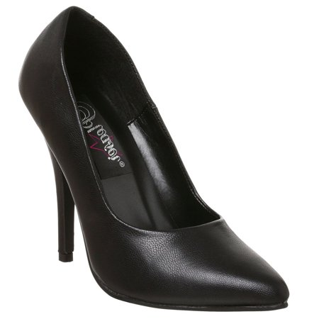"PLEASER SEDUCE-420 Women's 5"" Heel Classic Pump Dress Heel Basic Pump"