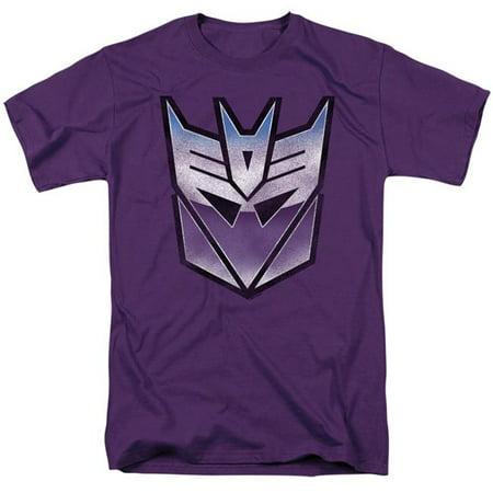 Trevco Sportswear HBRO129B-AT-8 Transformers & Vintage Decepticon Logo-Short Sleeve Adult 18-1 T-Shirt, Purple - 5X - image 1 of 1