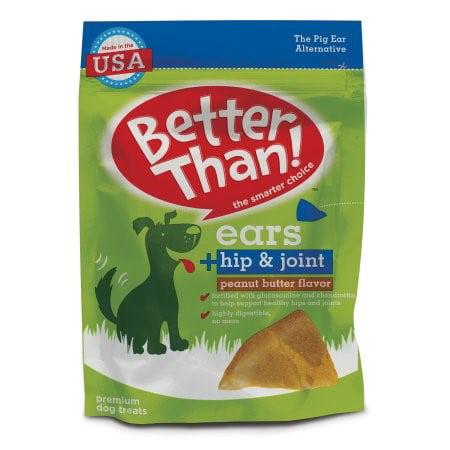 Better Than  Ears   Hip   Joint Peanut Butter Dog Treats  7 78 Oz