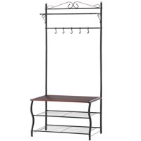 Deals on LANGRIA 3-in-1 Hall Tree Entryway Bench with Coat Stand