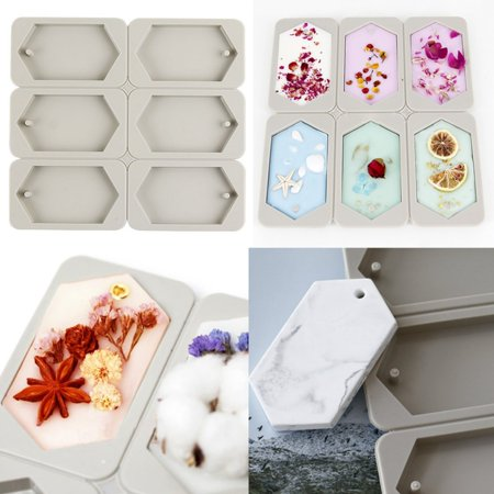 Moaere Hexagonal Molds Aromatherapy Wax Plaster Crystal Epoxy Soap Silicone DIY Mould (Soap Plaster Mold)