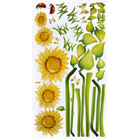 Sunshine Flowers - Wall Decals Stickers Appliques Home Decor