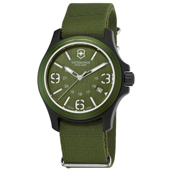 Swiss Army 241514 Victorinox Green Nylon Mens Watch - Olive Green Dial