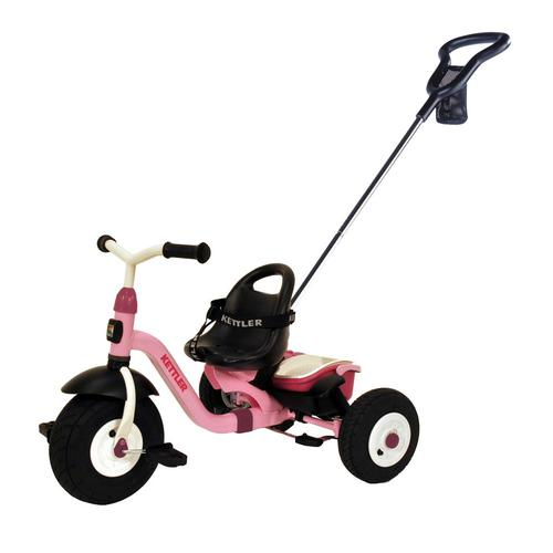 Kettler Happy Air Navigator Stella Tricycle With Push-Bar And Utility Net - Pink