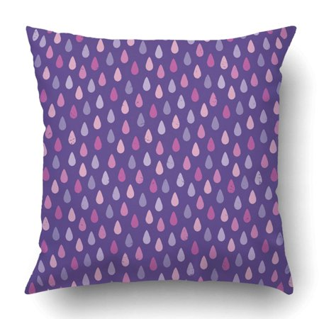 WOPOP Hipster With Raindrops In Purple Mauve Magenta And Pink Rough For Children Pillowcase Cover Cushion 18x18 inch