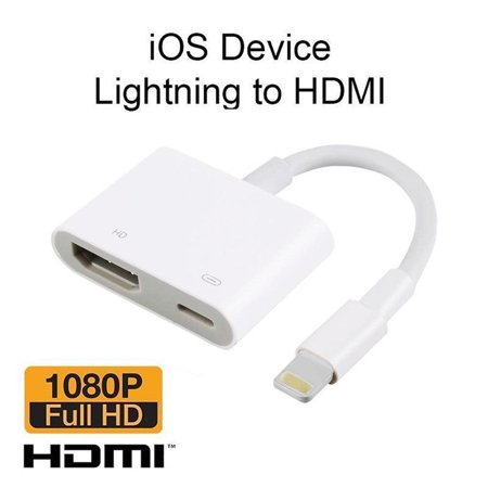 Supersellers Lightning to HDMI Adapter Cable - Connect iPhone to tv/projector, 1080P HDTV TV Digital AV Adapter Smart Converter Cable for iphone/iPad/iPod
