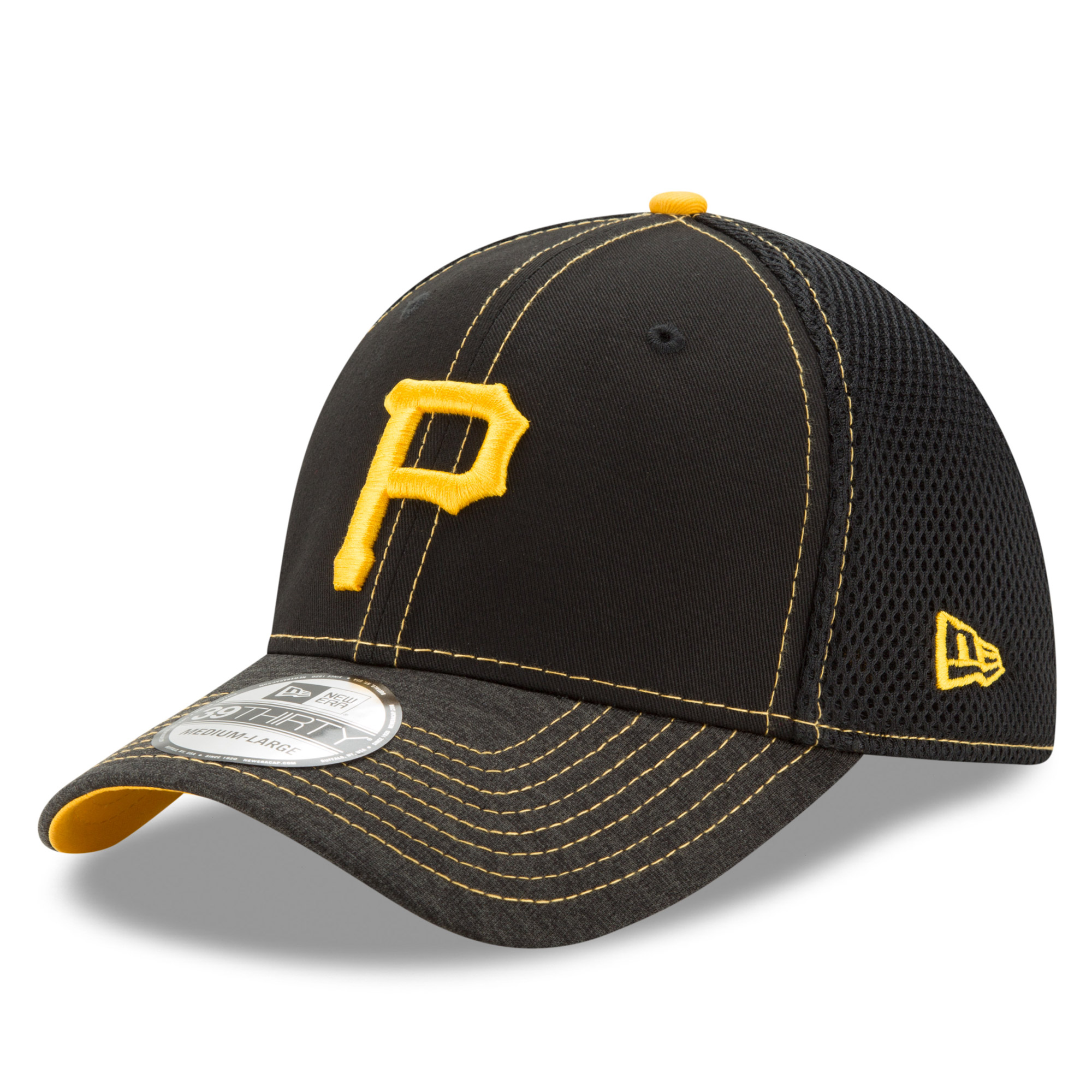 Pittsburgh Pirates New Era Shadow Burst 39THIRTY Flex Hat - Black