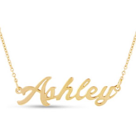Ashley Nameplate Necklace In Gold (Alphabet Nameplate)