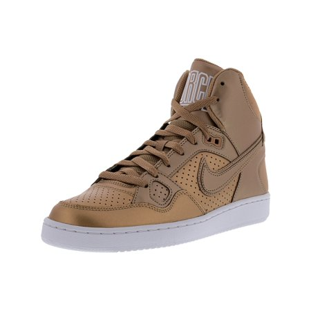 quality design 7d7a4 81193 Nike Women s Son Of Force Mid Metallic Red Bronze   Mid-Top Leather  Basketball Shoe ...