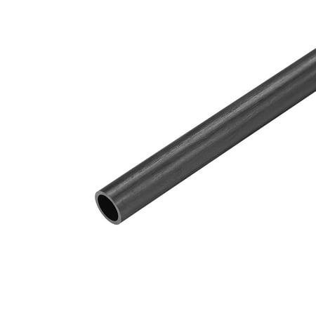 Carbon Fiber Round Tube 5mm x 4mm x 200mm Carbon Fiber Wing Pultrusion Tubing for RC Airplane 1 Pcs