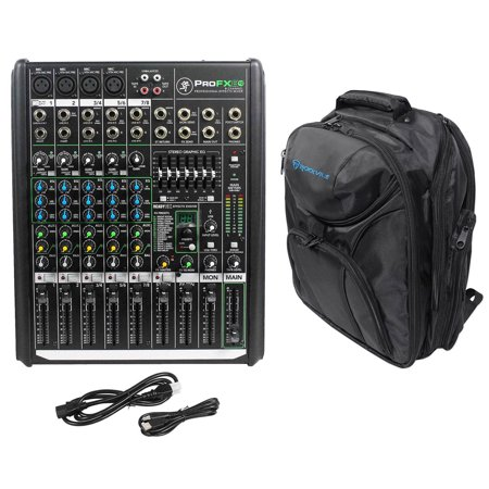 Mackie PROFX8v2 Pro 8 Channel Compact Mixer w Effects and USB + Backpack Bag