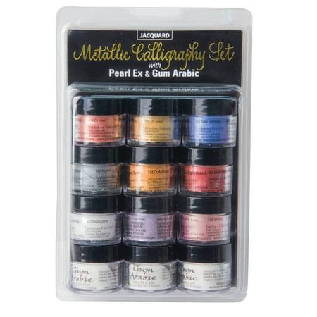 - Pearl Ex Pigment, 3g Jars, Metallic Calligraphy Set