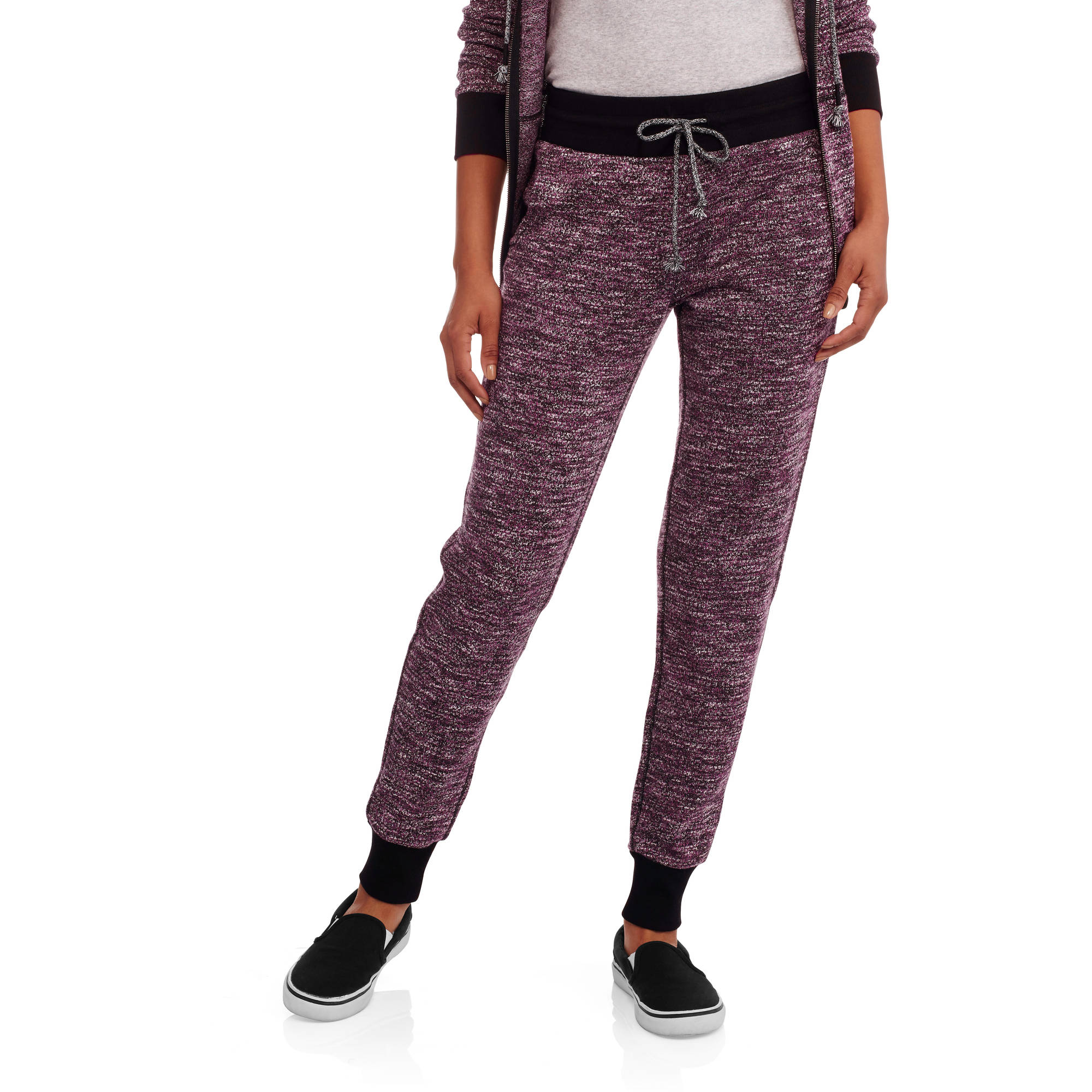 No Boundaries Juniors' Space Dye Ribbed Cuff Joggers
