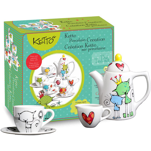 Ketto Paint-it-yourself Tee Set - Cat Th