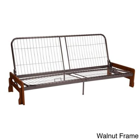 Boston Armless Futon Frame Queen Size Walnut Brown Finish
