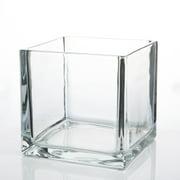 "Richland Square Glass Cube Vase 6"""