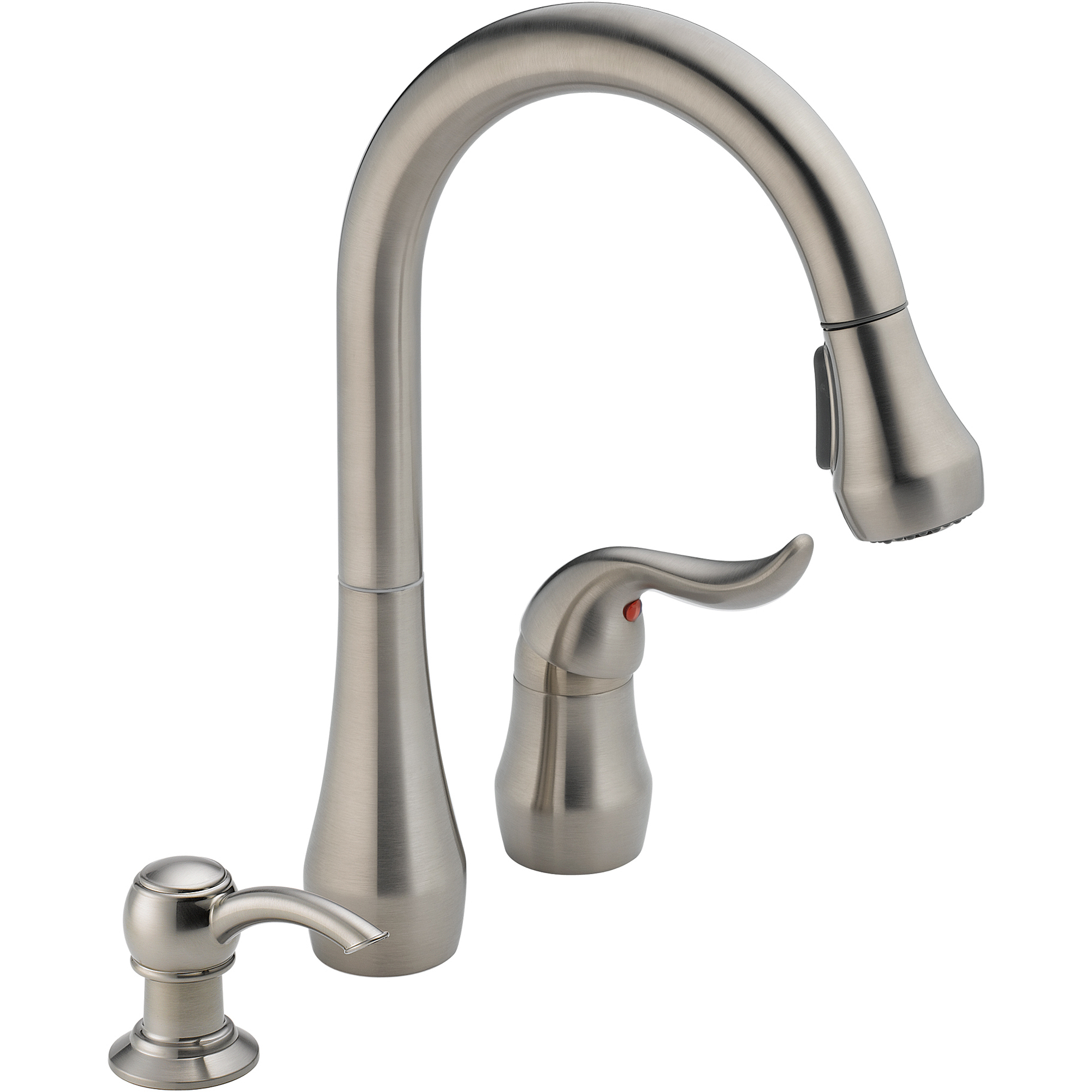 Peerless Single Handle Kitchen Faucet with Pull down Sprayer and