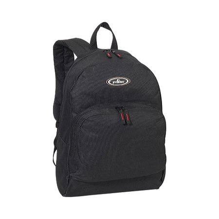 Everest Classic Backpack with Front Organizer 1045A Black OSFA