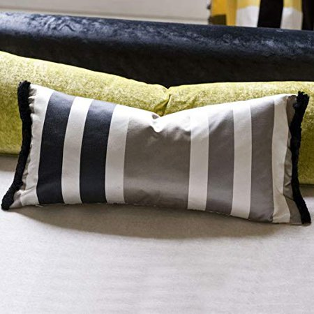 Designers Guild Throw Pillow Cover And Insert Trevelyan Black Tan 24 X12