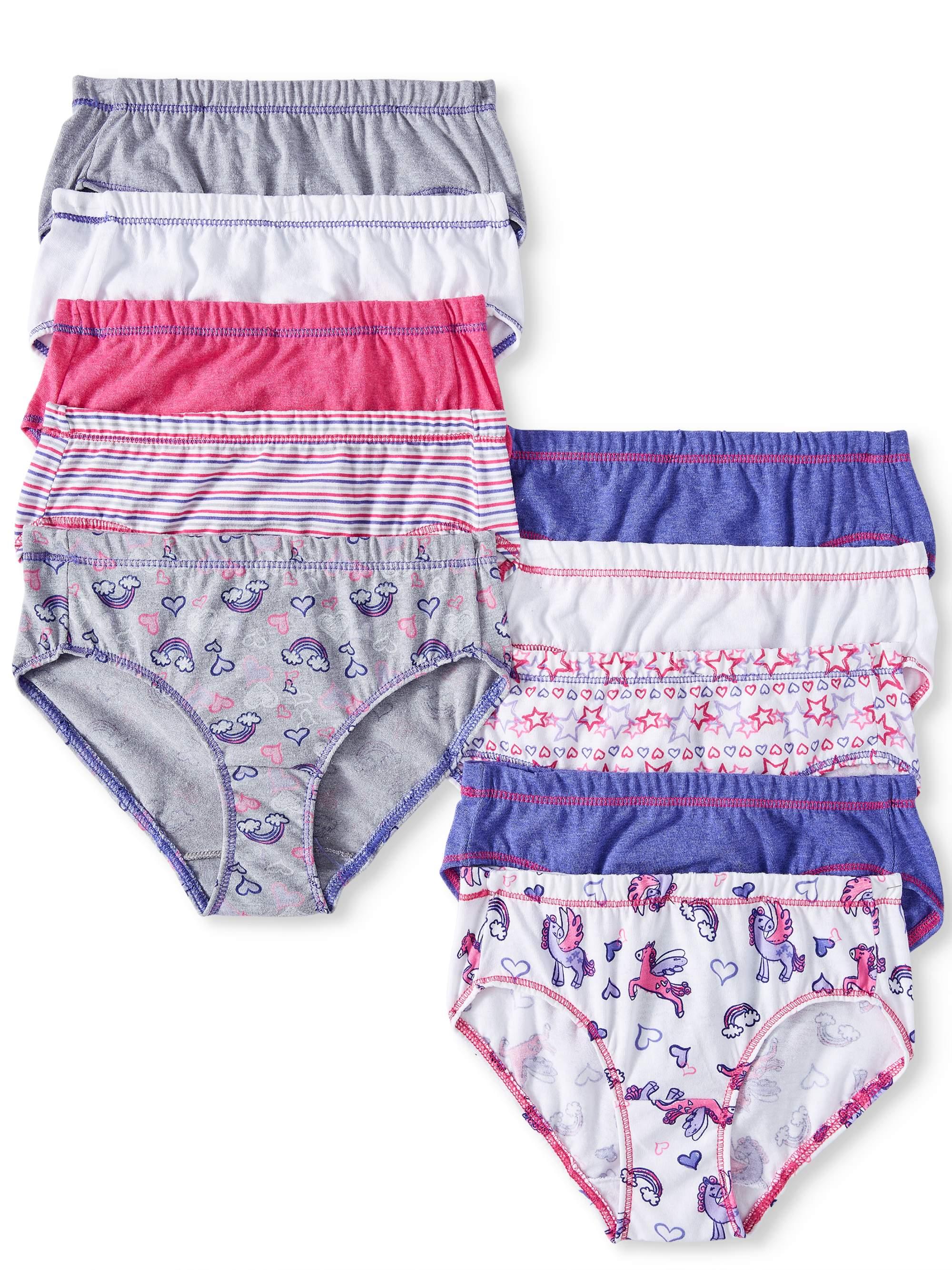 EcoSmart Tagless Hipsters, 10 Pack (Toddler Girls)