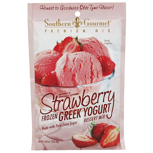 Southern Gourmet Strawberry Frozen Greek Yogurt Dessert Mix, 8 oz, (Pack of 8)