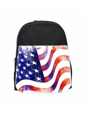 f8e1c7f1dabc Product Image Grunge American Flag Jacks Outlet TM PreSchool Children s  Backpack