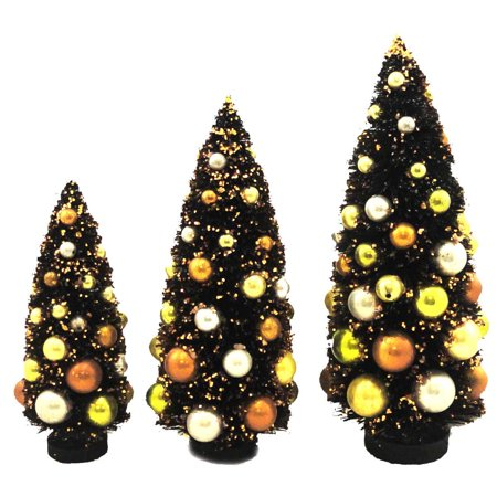 Halloween LARGE SPOOKY TREES SET OF 3 Mixed Media Bethany Lowe Designs LG9338 (Walnut Tree Farm Halloween)