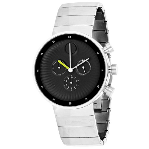 Movado Edge 3680009 Black Dial Stainless Steel Men's Watch