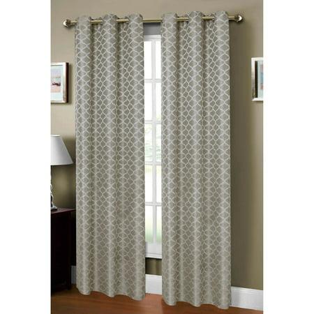 Sonata Faux Linen Jacquard Grommet Curtain -