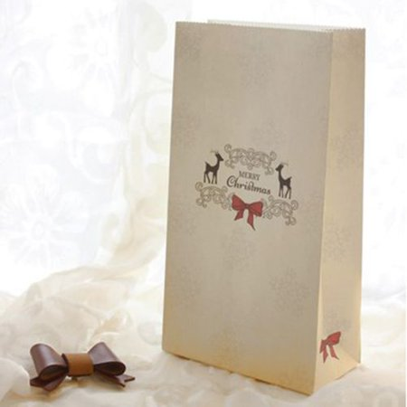 KABOER 5 PCS  Retro Atmosphere Cute Candy Baking Christmas Gift Paper Bag](Cute Gift Bags)
