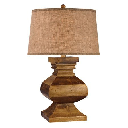 Dimond Lighting Carved Wood Post Table Lamp