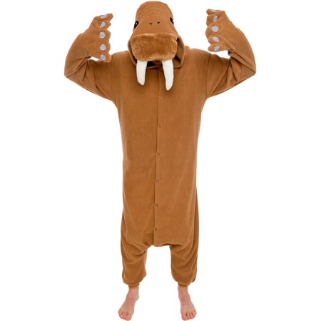 SILVER LILLY Unisex Adult Plush Walrus Animal Cosplay Costume Pajamas (Animal Adult Costumes)