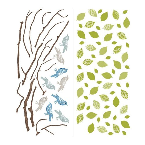 Brewster Home Fashions WPK96847 WallPops!  Sitting in a Tree Large Wall Art Kit Wall Decal