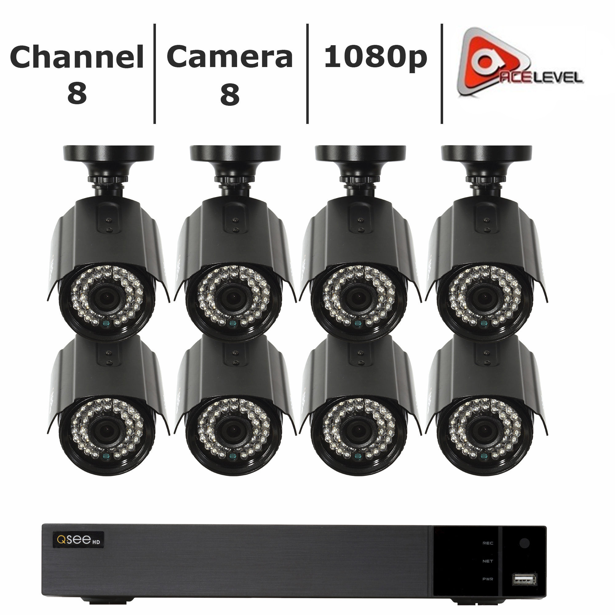 Q-See 8-Channel 8-Camera 1080p Security System with 3TB HDD DVR