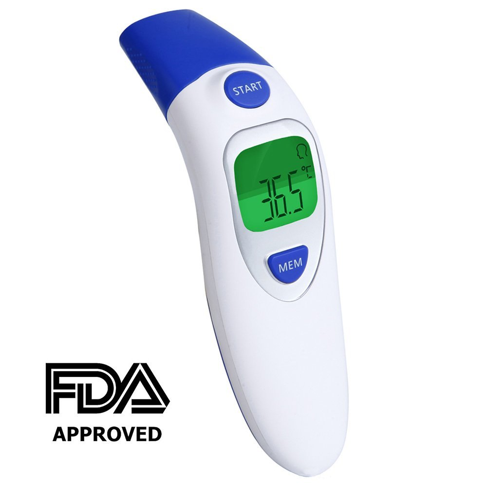 Digital Medical Thermometer, Professional Infrared Forehead and Ear Thermometer with Accurate Electronic Measurement Thermometers Instant Read and Detect Fever Body for Baby Child and Adult