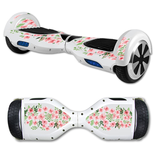 MightySkins Protective Vinyl Skin Decal for Hover Board Self Balancing Scooter mini 2 wheel x1 razor wrap cover Bouquet