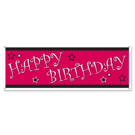 The Party Aisle Happy Birthday Sign (Set of 12) - Signs Of Birthday