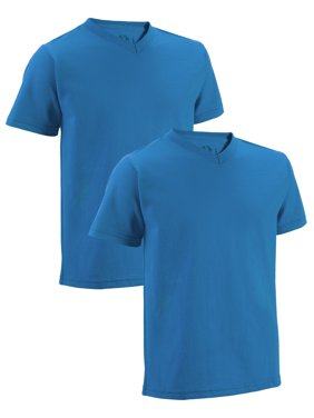 Fruit of the Loom Short Sleeve V-Neck T-Shirts, 2 Pack (Little Boys & Big Boys)