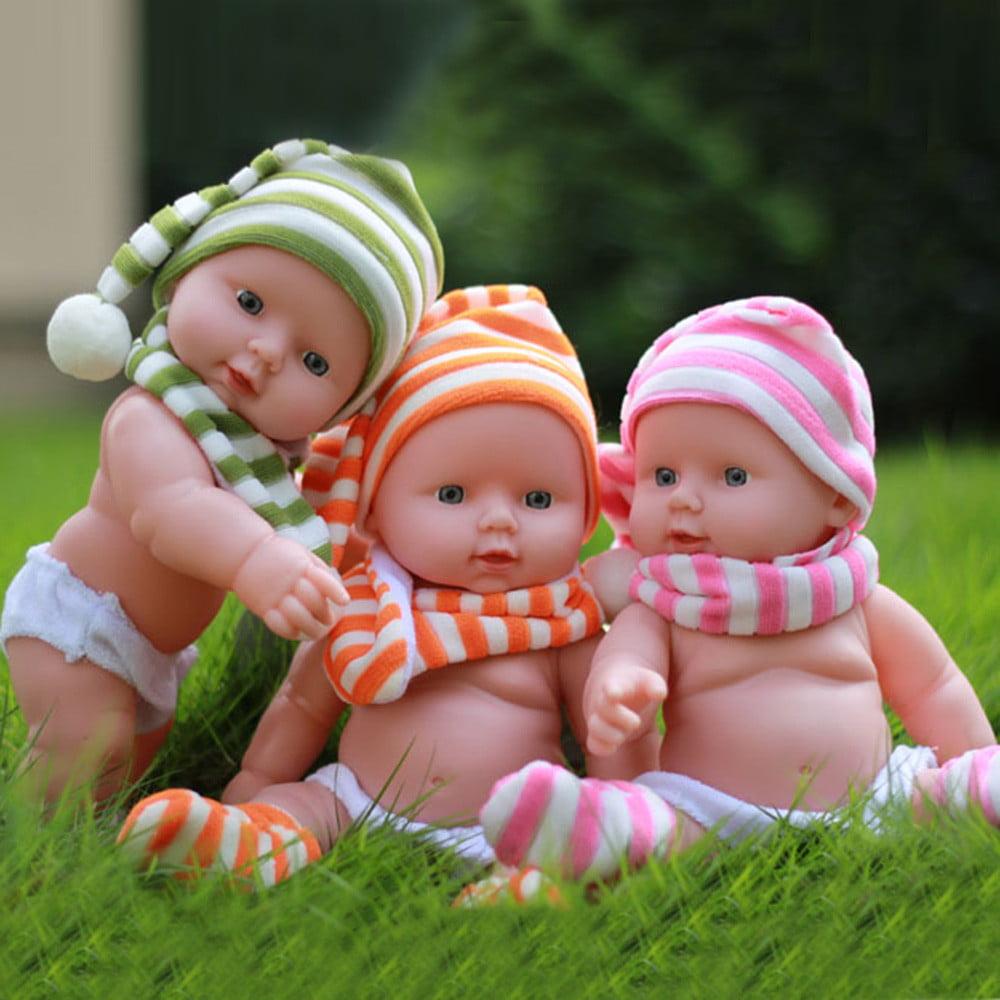 Mosunx Baby Emulated Doll Soft Children Reborn Baby Doll Toys Boy Girl Birthday Gift