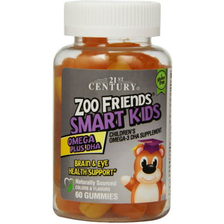 21St Century Zoo Friends Smart Kids Omega Plus Dha Gummies  60 Ea