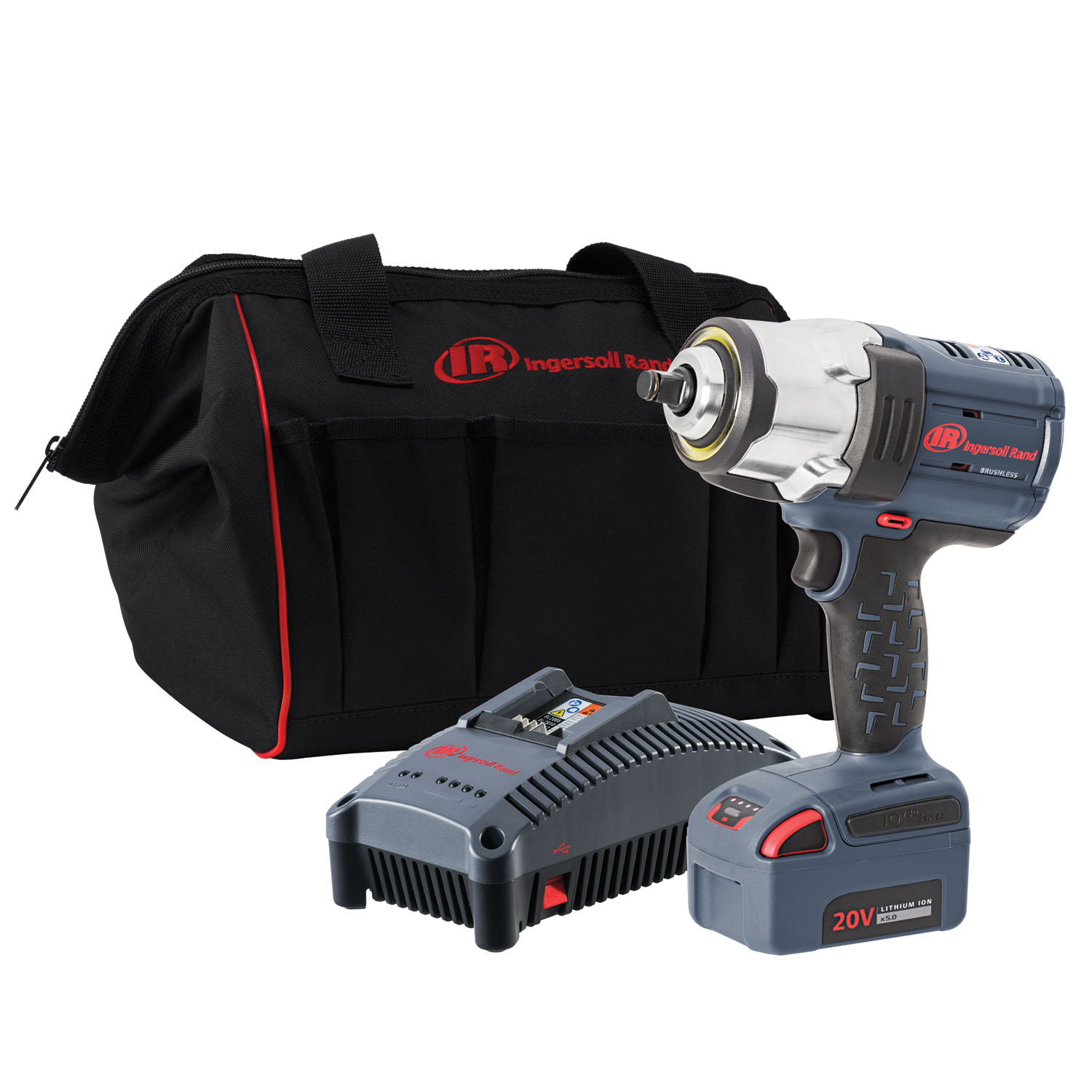 "Ingersoll Rand W7152-K12 1 2"" Drive Iqv20 Hd Impact Wrench One Battery Kit by Ingersoll Rand"