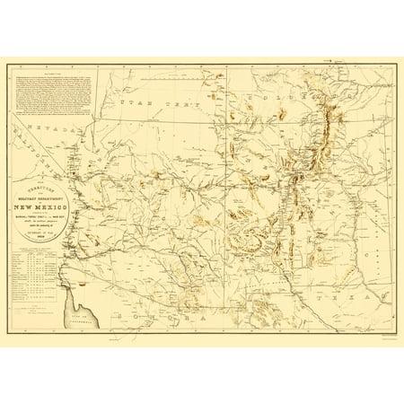 New Mexico Territory New Mexico Arizona - Dougal 1859 - 23 x 31.86