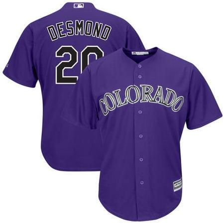 Men's Majestic Ian Desmond Purple Colorado Rockies Cool Base Alternate Player Jersey