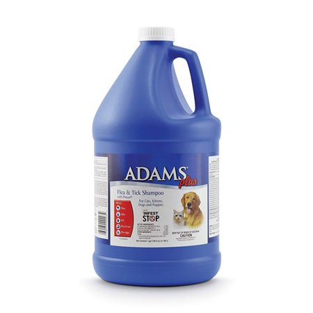 Tick Shampoo Gallon - Adams Plus 100503549 Flea and Tick Shampoo with Precor for Cats and Dogs - 1 Gallon