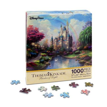 disney parks kinkade painter of light 1000 pc puzzle cinderella castle new box (Puzzles Cinderella Castle)