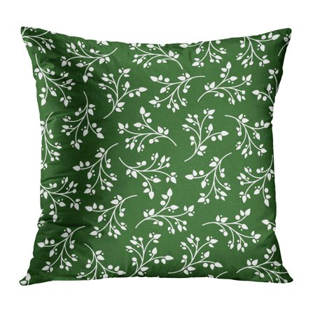 BOSDECO Green Abstract Christmas Branches Drawn Hand Holiday Leafs Merry Pillow Case Pillow Cover 20x20 inch - image 1 de 1