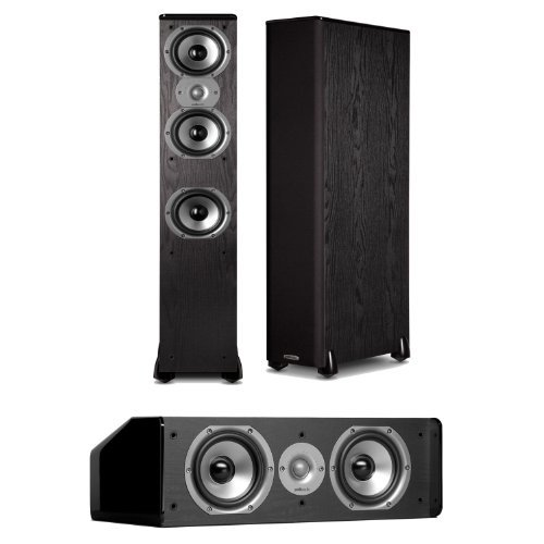 Polk Audio TSi 400 FloorStanding Speaker (Pair) Plus A Polk Audio CS10 Center Channel Speaker by Polk Audio